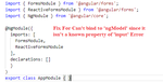 ngModel Angular Error: Can't bind to 'ngModel' since it isn't a known property of 'input'