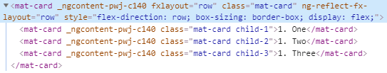 fxLayout row CSS example