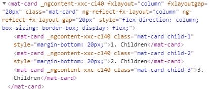 fxLayoutGap column CSS