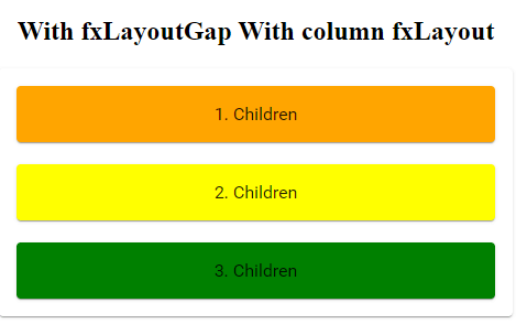 fxLayoutGap column example