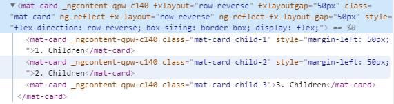 fxLayoutGap row reverse CSS