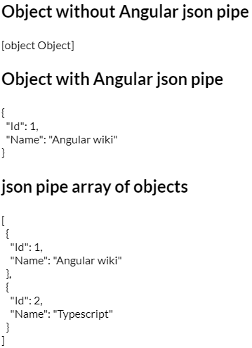Angular Json Pipe